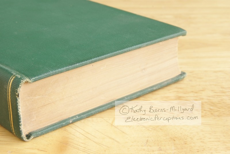 Stock Photo: Vintage Green Book - by Kathy Burns-Millyard