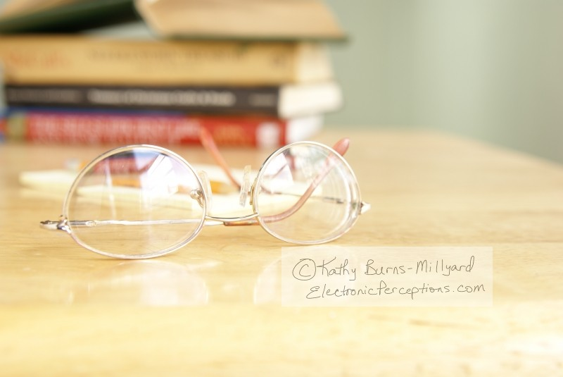 Still Life Stock Photo: Eyeglasses on Table