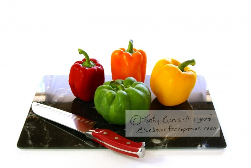 black Stock Photo: Bell Peppers