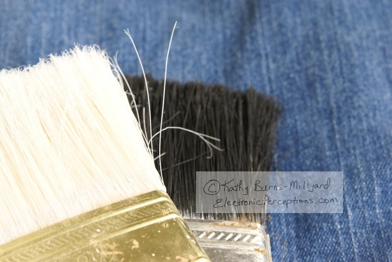 Stock Photo: Paint Brush Heads - by Kathy Burns-Millyard