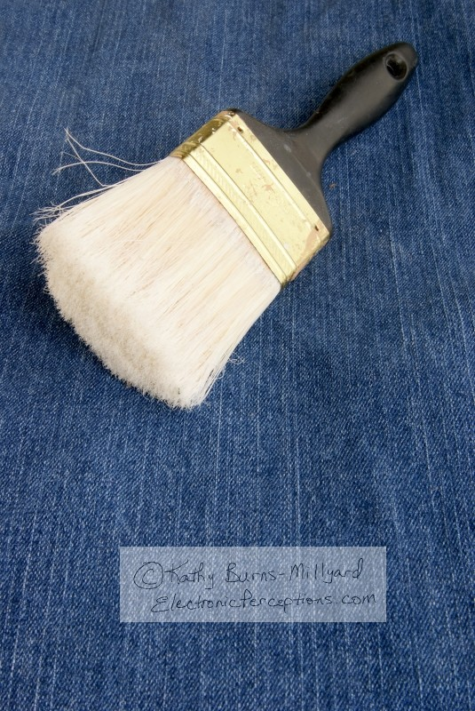 Stock Photo: Old Paintbrush - by Kathy Burns-Millyard