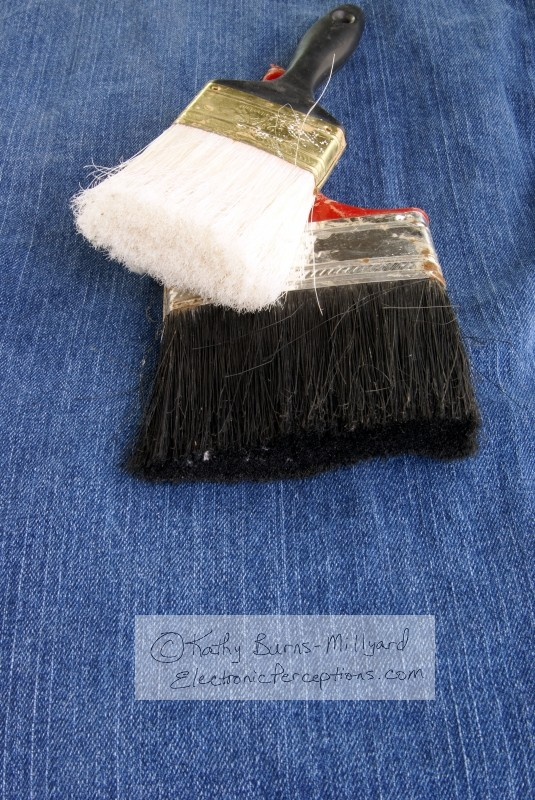 Stock Photo: Paintbrush Bristles - by Kathy Burns-Millyard