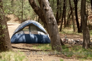 Nature Stock Photo: Tent Camping