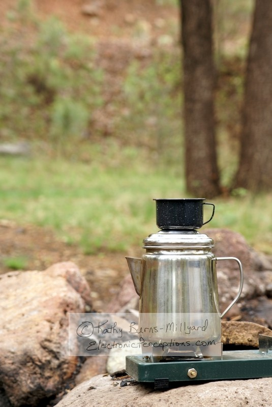 Stock Photo: Camping Coffee - by Kathy Burns-Millyard