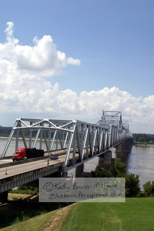 Stock Photo: Mississippi River Bridge - by Kathy Burns-Millyard