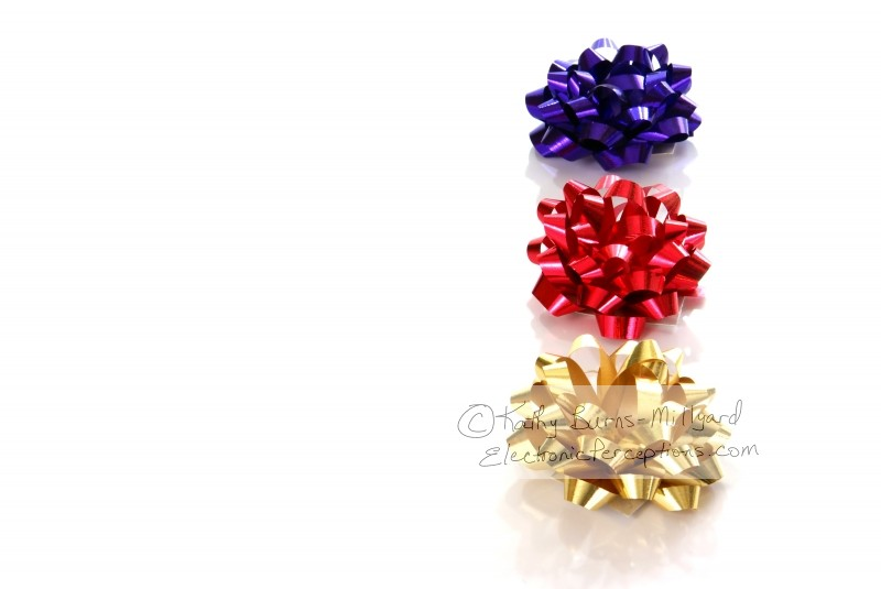Stock Photo: Christmas Bows - by Kathy Burns-Millyard