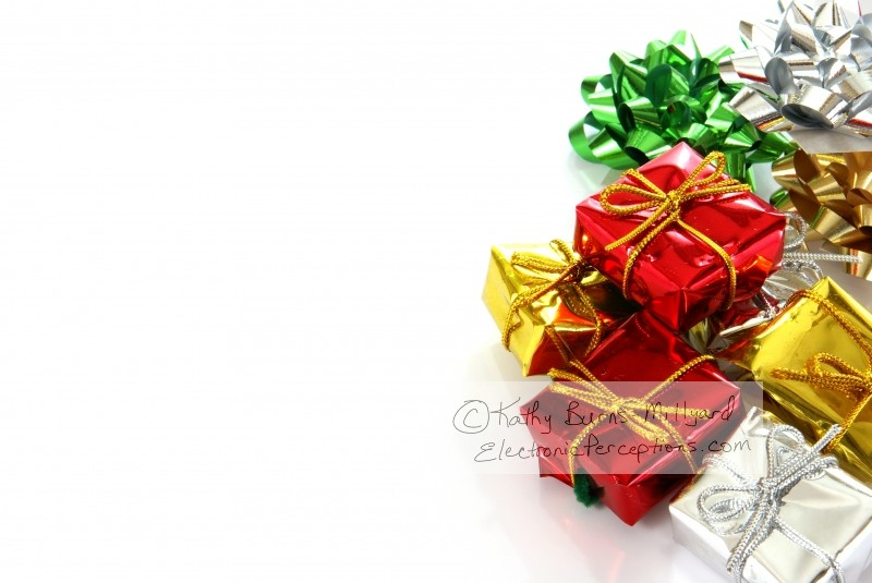 bow Stock Photo: Christmas packages