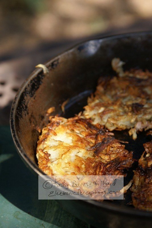 cast iron Stock Photo: Hash Browns Vertical