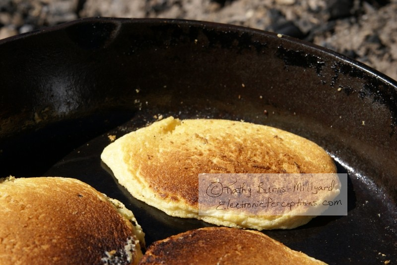 cast iron Stock Photo: Cornmeal Pancakes
