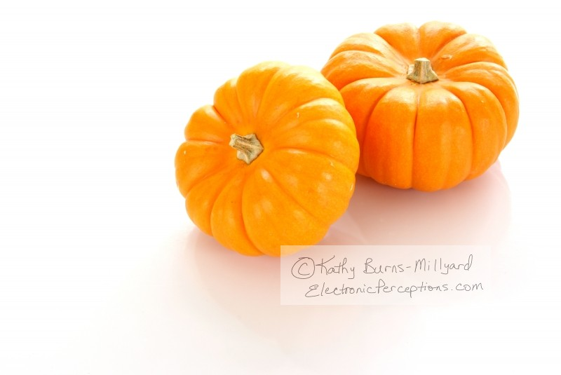 Stock Photo: Orange Pumpkins - by Kathy Burns-Millyard
