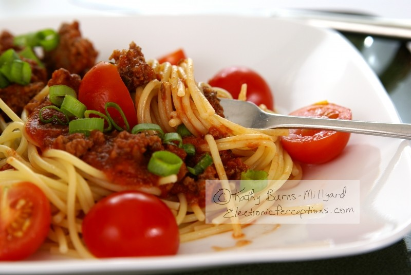 """tomato sauce"" Stock Photo: Spaghetti"