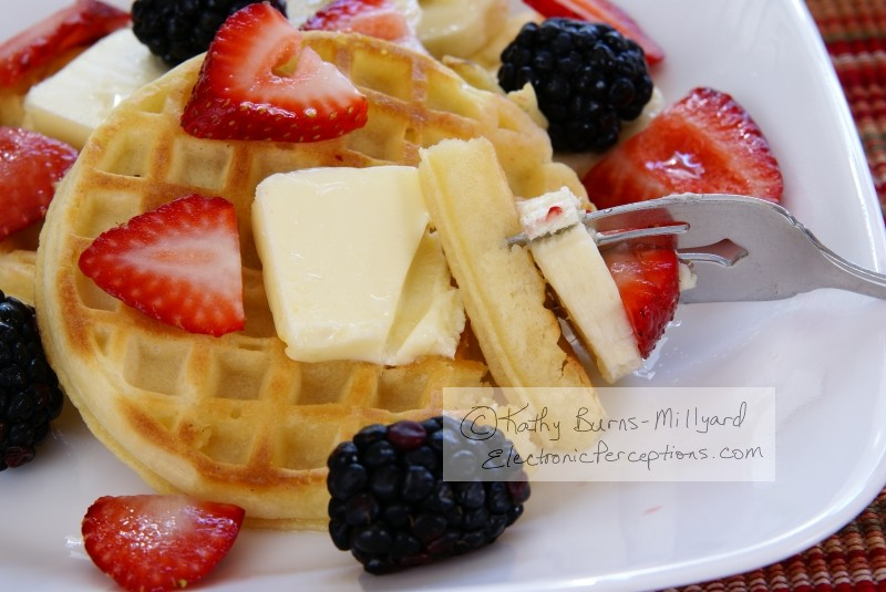 fruit Stock Photo: Waffles