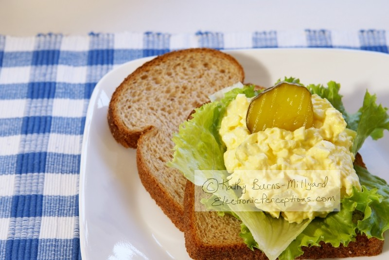 cholesterol Stock Photo: Egg Salad Sandwich