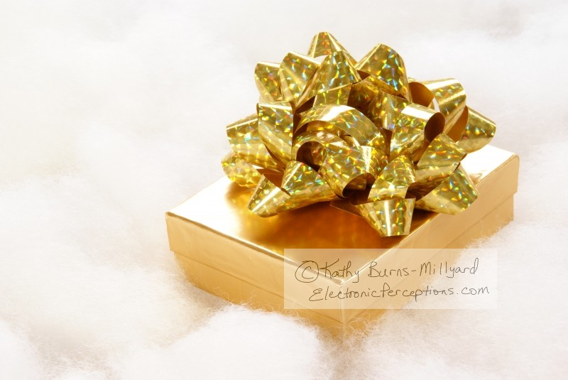 decorative Stock Photo: Golden Gift
