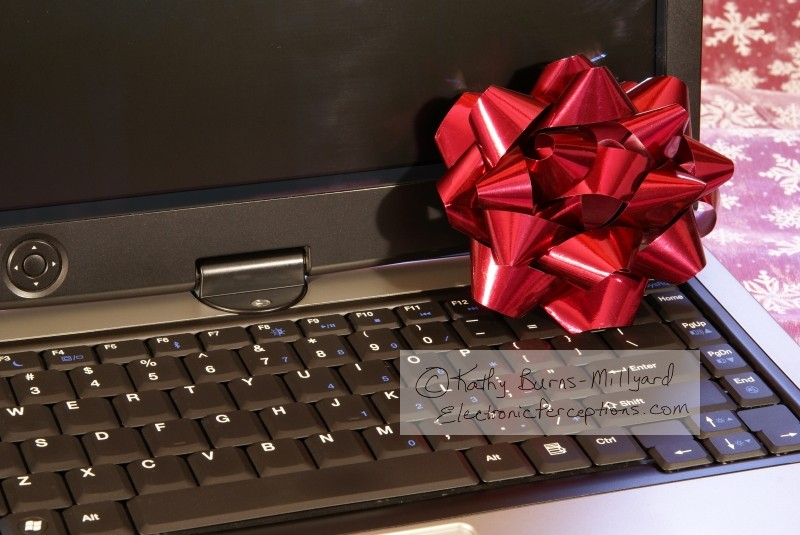 xmas Stock Photo: Laptop Computer
