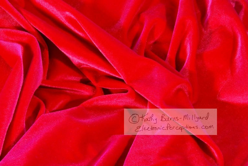 fabric Stock Photo: Red Velvet Fabric Background
