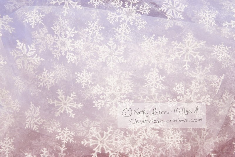 fabric Stock Photo: White Snowflake Fabric Background