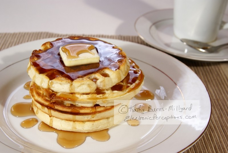 Stock Photo: Waffles - by Kathy Burns-Millyard