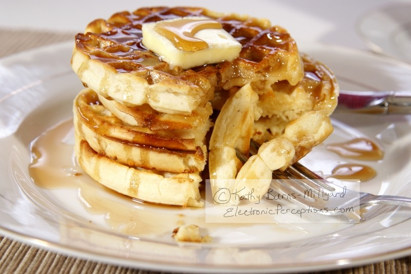butter Stock Photo: Waffles