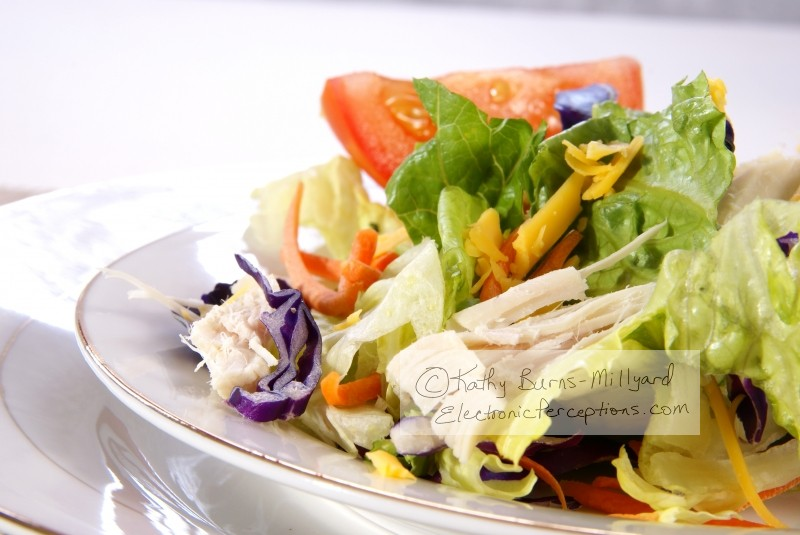 silverware Stock Photo: Salad