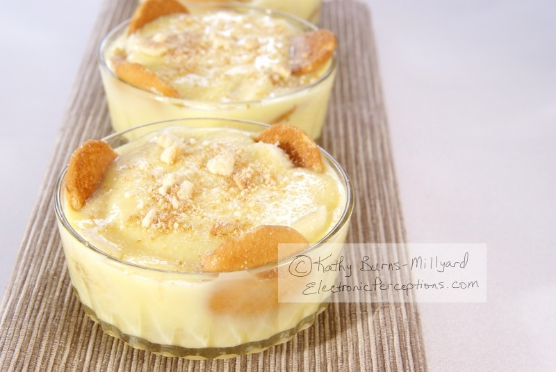 cookies Stock Photo: Banana Pudding