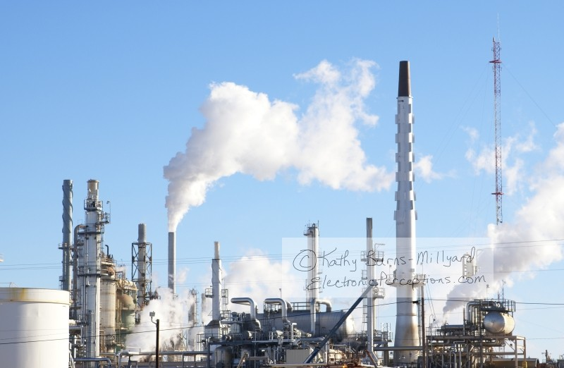 environment Stock Photo: Refinery Pollution