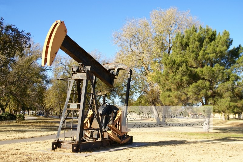 trees Stock Photo: Pump Jack