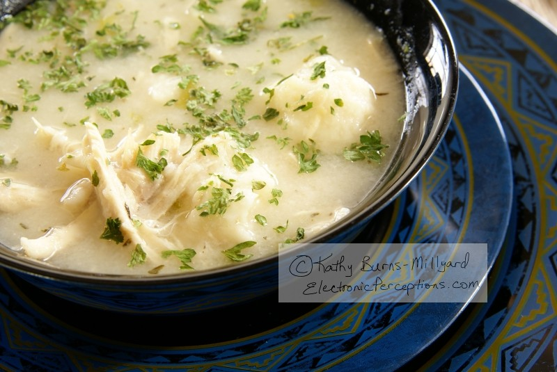 black Stock Photo: Chicken and Dumplings