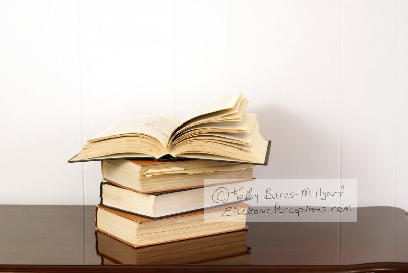 Stock Photo: Old Books - by Kathy Burns-Millyard
