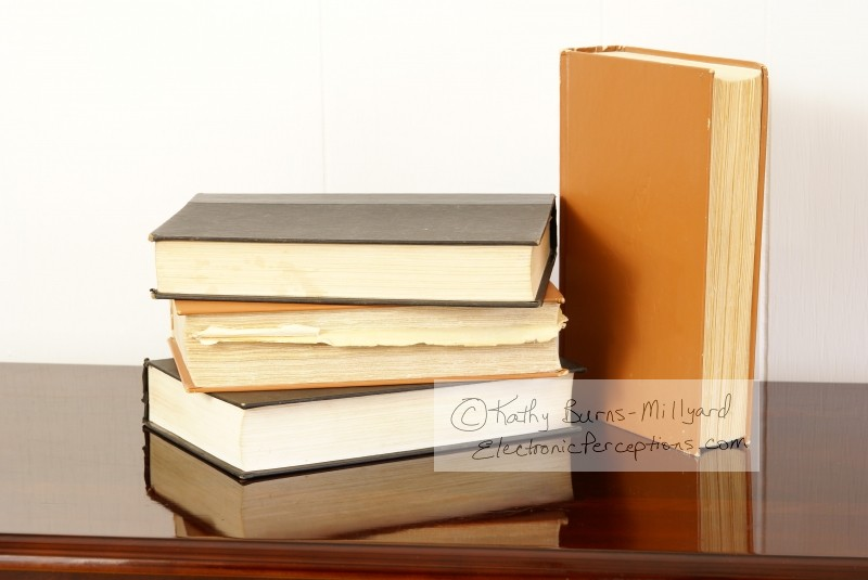 table Stock Photo: Old Books