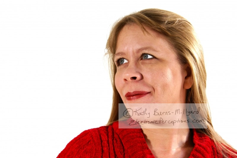 red Stock Photo: Pretty Woman