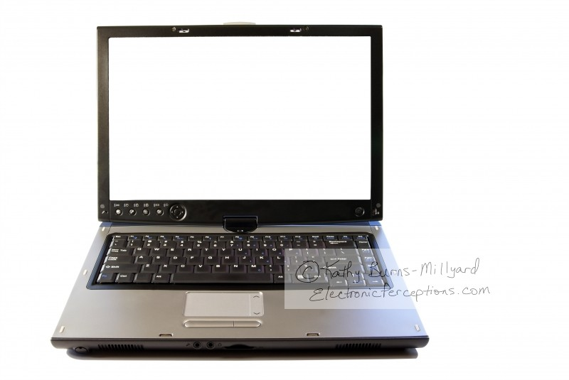 black Stock Photo: Laptop Computer