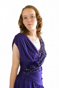 Stock Photo Thumbnail: Purple Party Dress