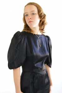 Stock Photo Thumbnail: Black Satin Dress