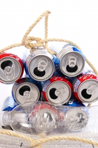 Royalty Free Image: Recycle Cans & Bottles