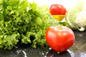 Stock Photo Thumbnail: Lettuce and Tomato
