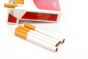 Stock Photo Thumbnail: Cigarette Warning