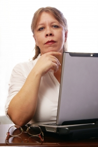 Stock Photo Thumbnail: Woman with Laptop