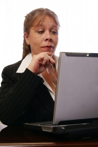 Stock Photo Thumbnail: Professional Woman Raising Eyebrows