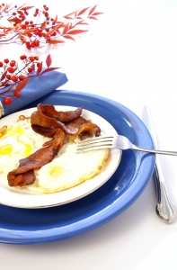 Stock Photo Thumbnail: Bacon and Eggs