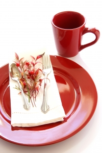 Royalty Free Image: Red Table Setting