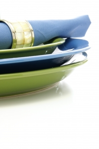 Royalty Free Image: Green and Blue Tableware