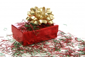 Royalty Free Image: Christmas Gift Box with Bow