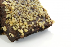 Stock Photo Thumbnail: Chocolate Nut Brownie