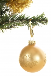 Royalty Free Image: Gold Christmas Ornament