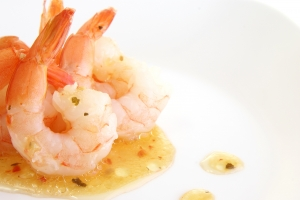 Royalty Free Image: Shrimp With Herbs