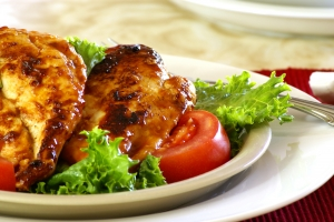 Stock Photo: Barbecued Chicken