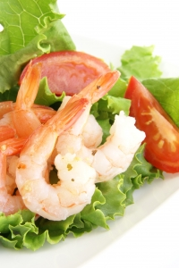 Stock Photo Thumbnail: Shrimp Salad Vertical