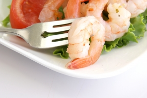 Stock Photo Thumbnail: Shrimp on Fork