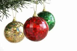 Royalty Free Image: Three Christmas Balls